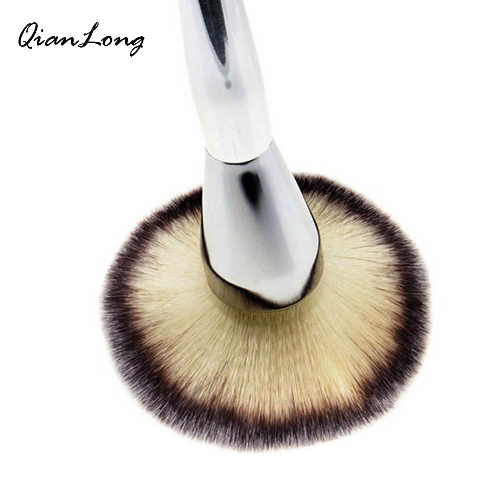 QIANLONG 1pc Silver Powder Blush Brush Professional Make Up Brush Large Cosmetics Makeup Brushes