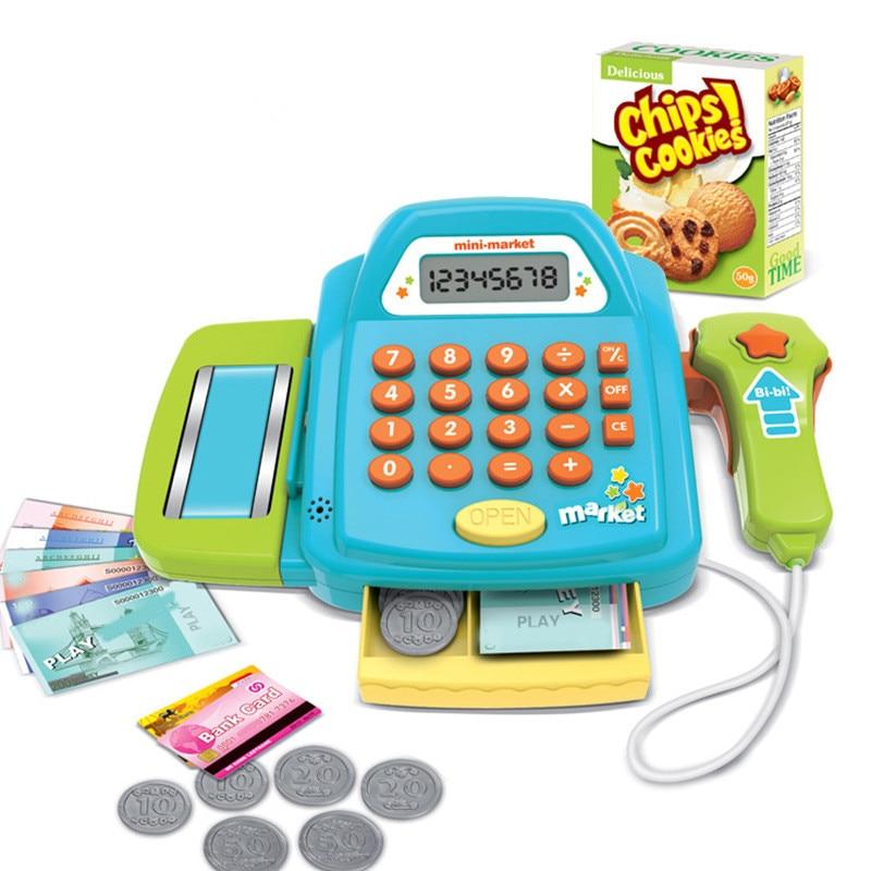 Kids Simulation Pretend Play Supermarket Cash Register