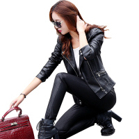 Women Leather Jackets Ladies Short Design Slim Elegant PU Faux Leather Jacket Coats Motorcycle Outwear Women