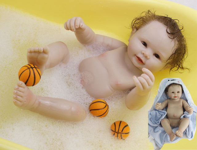 "20"" Boys Silicone Lifelike Doll Full Body Vinyl Reborn Dolls Allowed Washing Baby for teach mother maternity nurse study"