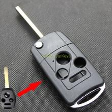 Шишка для Honda Civic Сити Fit CRV Accord ключей в случае 3 + 1 Пуговицы Uncut пустой латунь лезвие изменение удаленного ключ абс В виде ракушки 1 шт.