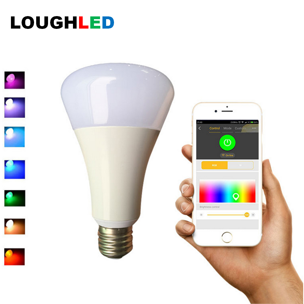 Music control Wireless WIFI RGBW LED Bulb E27 LED Light Colorful Dimmable Support IOS/Android APP Control LED Lamp Free Shipping 10w magiclight pro wifi bluetooth smartphone controlled wake up dimmable multicolored led light bulb e27 for ios android