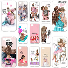 цена на Silicone Phone Cases for Xiaomi Redmi 6A Case Cover Xiaomi Redmi 6A 5.45 inch Bumper Black Brown Hair Baby Mom Girl Soft Bags