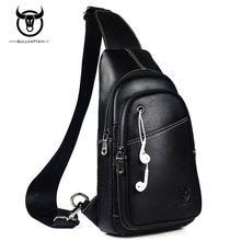 Bullcaptain mode männer tasche aus echtem leder mann umhängetaschen hohe qualität brusttasche reise casual umhängetasche