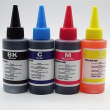 Universal 4 x 100ml/Color Refill Dye Ink Kit Kits For Epson Stylus T26 T27 TX106 TX117 TX119 TX109 Refillable Inkjet Printer