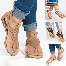 Dwayne Women Gladiator Sandals 2019 Flat With Shoes For Sandalias Mujer Summer Leather Rome