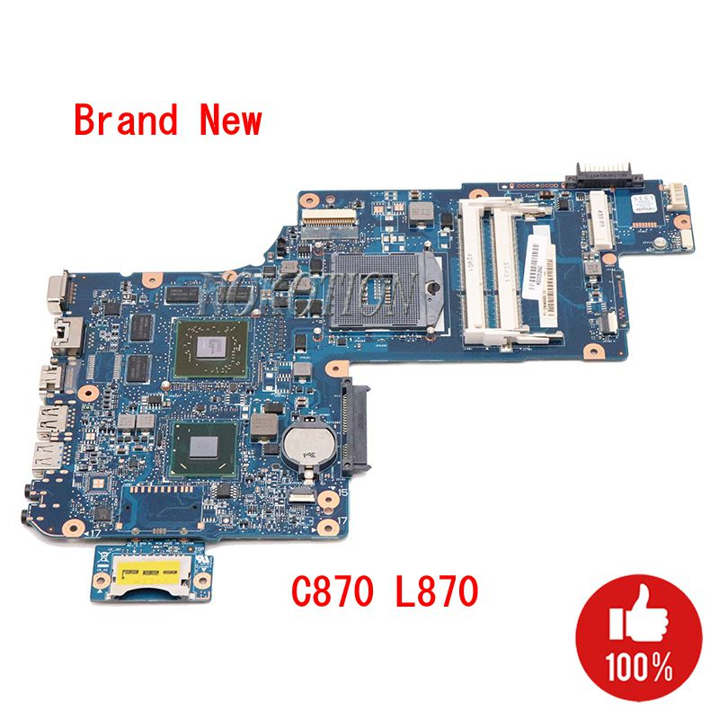 NOKOTION NEW H000046340 Main Board For Toshiba Satellite C870 L870 L875 Laptop Motherboard 17.3 Inch HD 7610M GPU