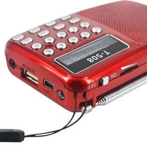 Image 5 - Kebidumei 2018 Thương Hiệu Mới 50Mm Nội Bộ Từ T508 LED Đài FM Stereo Loa USB TF Thẻ MP3 Nghe Nhạc