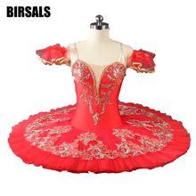 Red Flower Fairy Romance La Esmeralda Professional Ballet Tutu Costume Girls Kids Ballerina Sugar Plum TutuBT9046