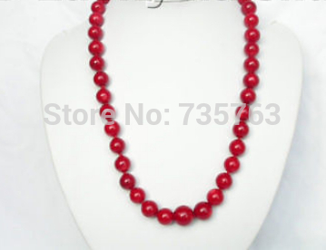 Здесь продается  xiuli 0014889 genuine 100% natural 14mm round red coral necklace  Ювелирные изделия и часы