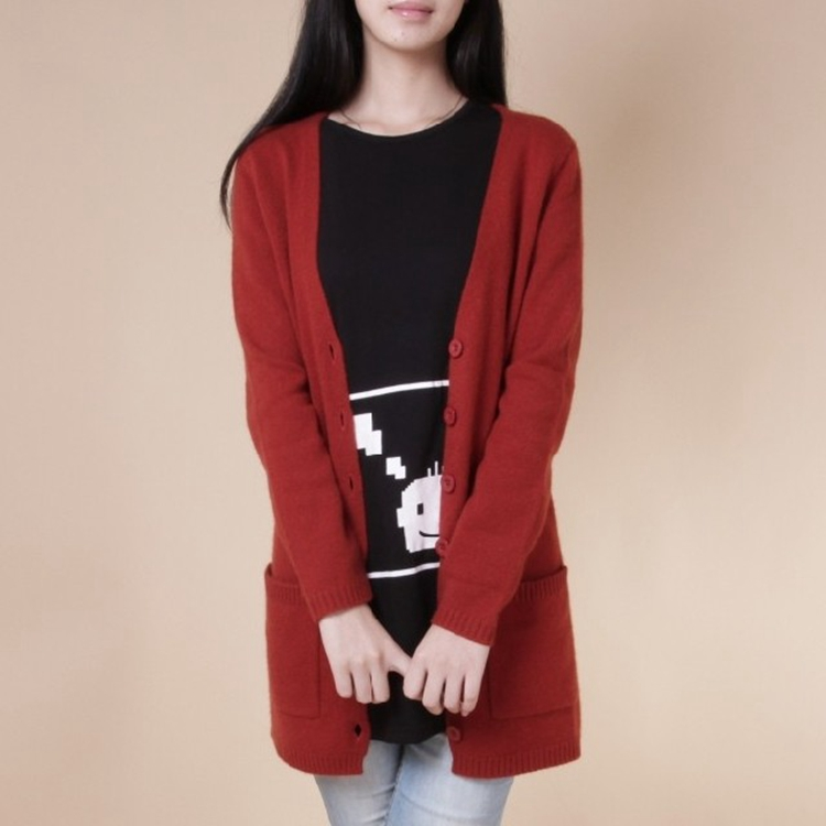 2a30c28f1b991 New women s autumn knit cashmere cardigan sweater and long sections Slim  Korean wild big yards sweater coat
