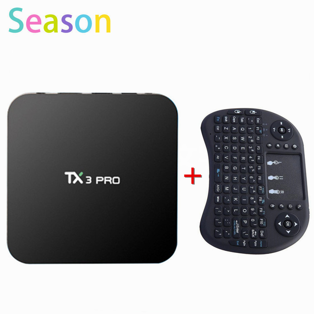 TX3 PRO Android 6 0 Amlogic S905X Quad core Set top box 1G 8G Android TV