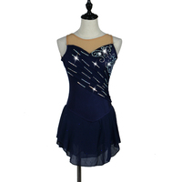 Gymnastics Dress Women's Girls' Ice Skating Dress Rhinestone Stretchy Performance Skating Wear Handmade Classic Sexy Dresses