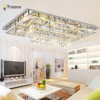 De lujo de Cristal Moderno Luz de Techo Con Pantalla De Cristal de Oro Lámpara de Techo para la Sala de estar Dormitorio lamparas de techo abajur