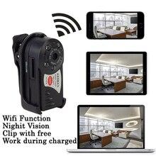 IP Webcam Em Wi-fi Mini Câmera Babá DVR Q7 Câmera Sem Fio Sensor De Movimento De Vídeo de Visão Noturna Infravermelha Gravador de Voz Mirco Cam