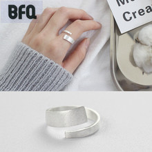 BFQ 2017 S925 sterling silver rings for women drawing face open ring silver 925 jewelry freeshipping anillos bague anel feminino