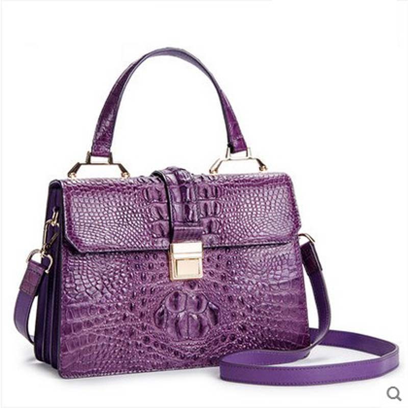 ouluoer Female bag lady bag women handbag lady new tide crocodile leather