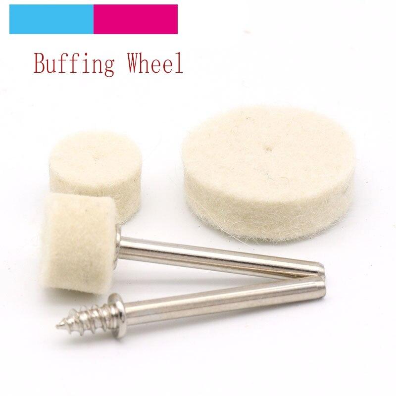 10 piezas de 1//8 pulgadas 1 pulgada ca/ña de cerdas de nylon rueda de cepillos para la herramienta Dremel