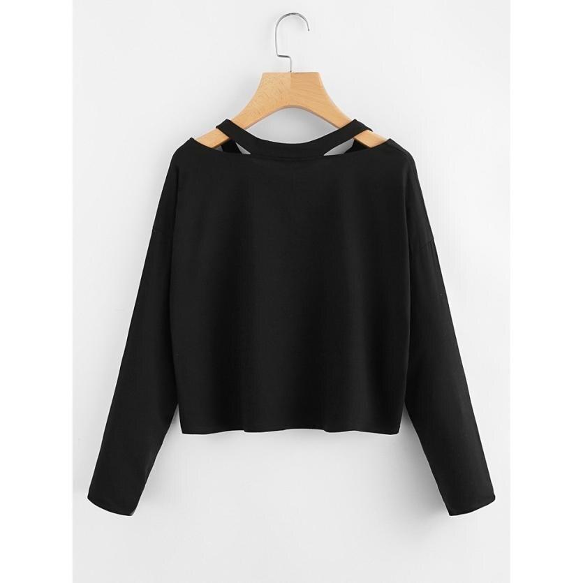 Autumn Sweatshirts For Women 2019 Rose Printed Off Shoulder Female Jumper Pullover Casual Long Sleeve Elegant Clothes Sweatshirt