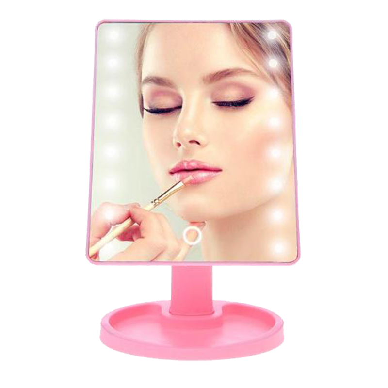 Touch Screen Makeup Mirror Adjustable Magnifying Vanity Tabletop Lamp Cosmetic Mirror Make Up Tool 180 Rotating 16/22 LED Lights