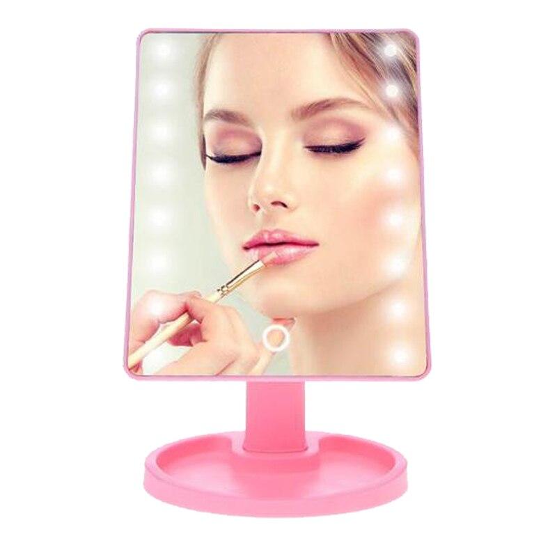 Touchscreen Make-up Spiegel Einstellbar Vergrößerungs Eitelkeit Tabletop Lampe Kosmetik Spiegel Make Up Tool 180 Rotierenden 16/22 Led-leuchten Ohne RüCkgabe Haut Pflege Werkzeuge