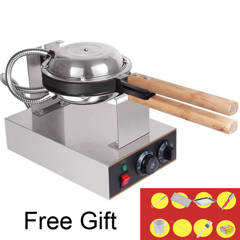 Wholesale Commercial Electric egg bubble waffle maker machine eggettes puff cake iron maker machine bubble egg cake oven commercial snack machine automatic electric round 4 egg cake waffle maker waffle cone maker