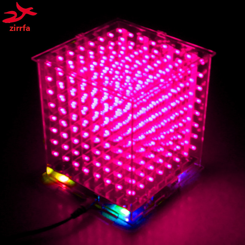 Strict 3d 4x4x4 Green Led Light Cube Kit Mini Led Electronic Light Cubeeds Diy Kit For Arduino For Christmas Gift/new Year Gift Festive & Party Supplies Party Diy Decorations