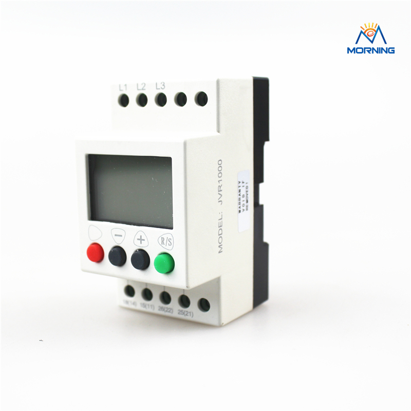 JVR1000 sequence protection relay with counting and timing 3-phase 380-450VAC vj5 lcd display phase failure sequence unbalance protective relay 3 phase and voltage relay