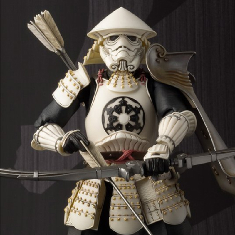 цена на 17cm Star Wars Action Figure Samurai Taisho Darth Vader Stormtrooper Kids Collectible Toys Gift Children Adults Xmas Decor Doll