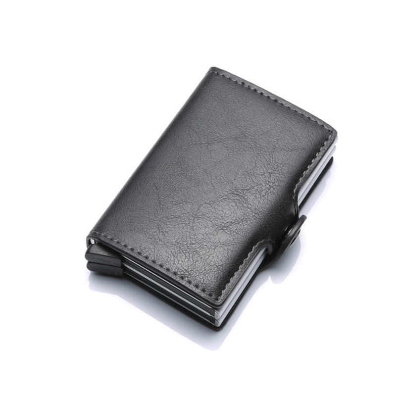 WEIXIER 2019 hombres guapos PU cambiar tarjeta de crédito Paquete de tarjeta de identificación Color sólido Multi-función Clip de billete alto portátiles de calidad