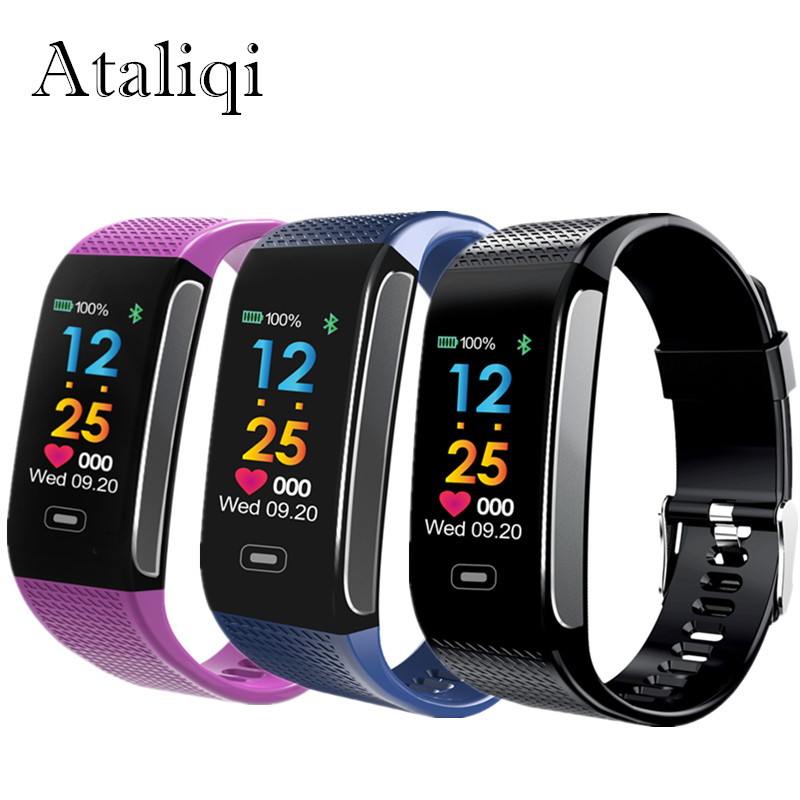 Waterproof Smart Band Wrist Watch Fitness Tracker Bracelet ck18s SmartBand Blood Pressure Heart Rate Monitor Pedometer Wristband fashion women color screen smart band wristband heart rate blood pressure monitor fitness bracelet tracker smartband pedometer