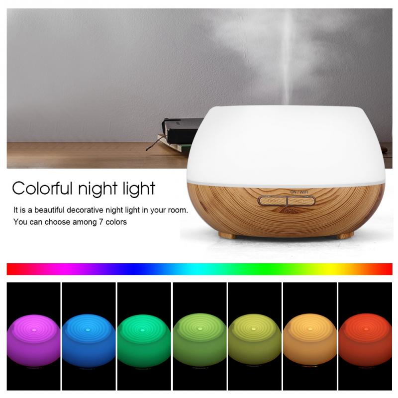 WiFi Smart Ultrasonic Colorful Essential Oil Aroma Diffuser Humidifier For Alexa Google Home Voice Control For Home Office все цены
