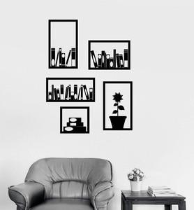 Image 1 - Виниловые наклейки на стену для офиса, книжной полки, украшение интерьера комнаты, библиотеки, кабинета, спальни, украшение для дома, художественные настенные наклейки YD9