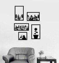 Stickers muraux en vinyle pour décoration intérieure, bibliothèque, bureau, chambre détude, autocollants muraux artistiques de décoration pour la maison, YD9