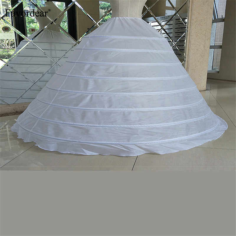 Favordear Underskirt Ball Gown Wedding Dress Petticoat White Drawstring Strap 8/6Hoops Performance Plus Size Long Petticoat