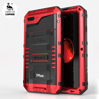 LUPHIE 3 Proof Wolf Armor Case For IPhone 6 7 Plus Luxury Metal Aluminum Dirt Shock