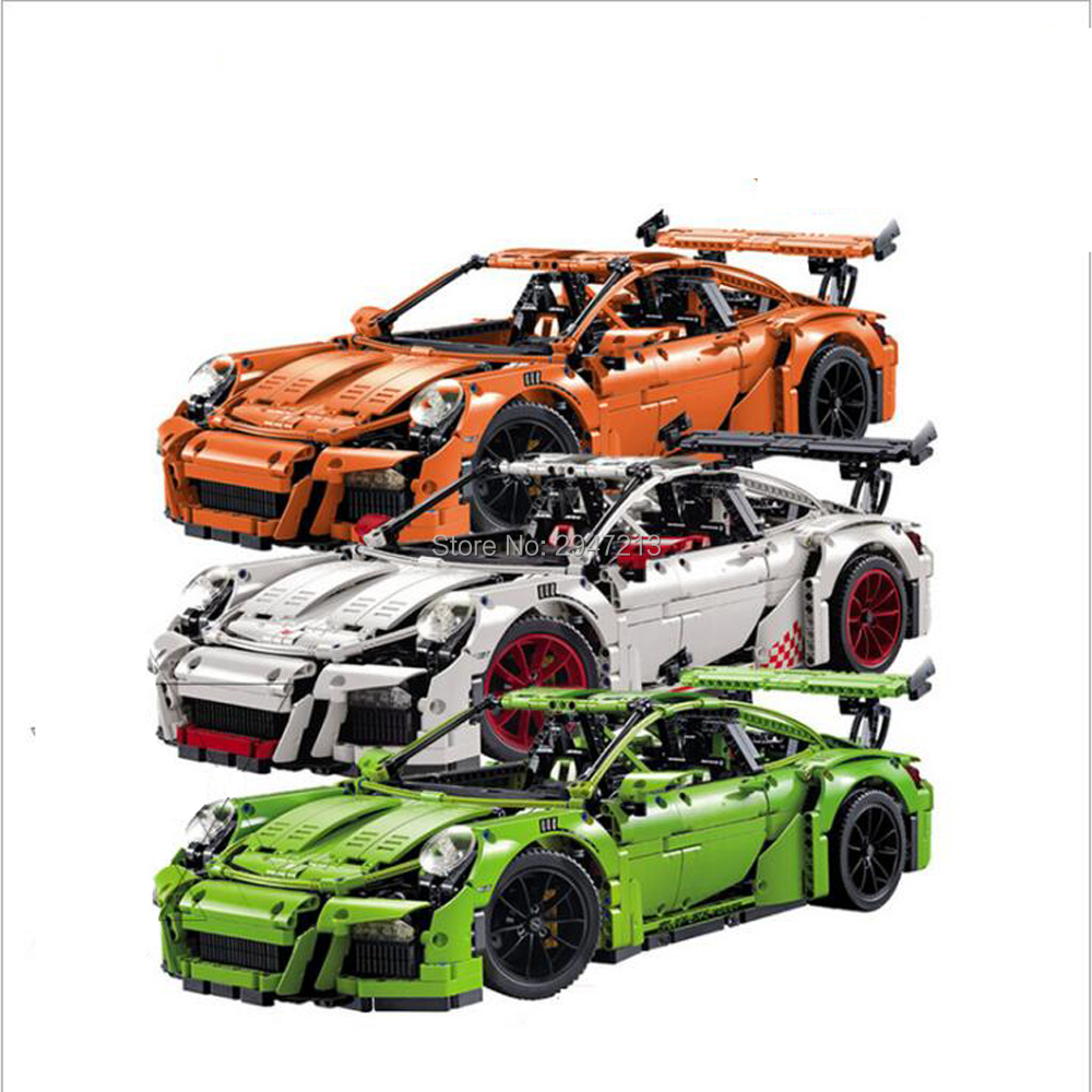 hot compatible LegoINGlys technic series Car Model Building blocks German famous racing car 911 RS brick toys for children gift hot toys nanoblock world famous architecture statue of liberty building blocks mini construction brick model iblock fun for kid