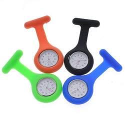 В настоящий момент # L05 Лидер продаж 2018 модные Cuty Новый силикон Медсестра часы Брошь Туника Брелок часы с бесплатной Батарея доктор падение