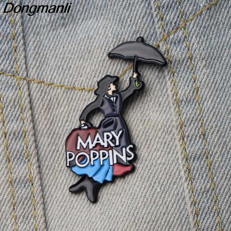 DMLSKY かわいいブローチ金属エナメルピン女性と男性のファッションブローチ服バッジシャツ襟ピン M2879