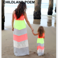 2016 summer mother daughter dresses long maxi dress family matching clothes lace beach family look mother and daughter clothes