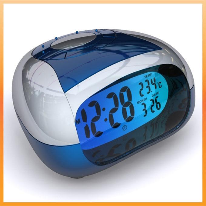 Smart LED Calendar Digital Clock Student Electronic Alarm Small Clock Watch Snooze Alarm Clock Temperature Time Display