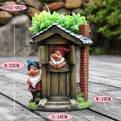Kindergarten flower pot ornament (2)