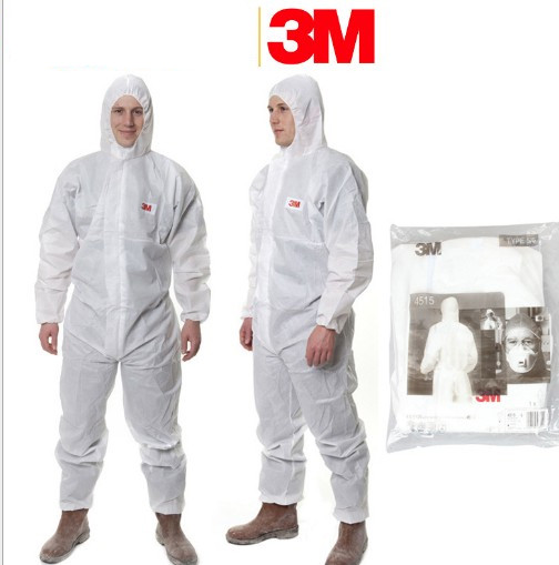 3M 4515 4510 Protective Clothing Coverall 4515 Disposable Antistatic and non-linting work clothes One Piece against dust/splash 4515