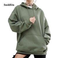 Susi&Rita Winter Women Hoodies Sweatshirts Long Sleeve Oversized Hoodie Ladies Casual Pullover Sweatshirt Plus Size Moletom