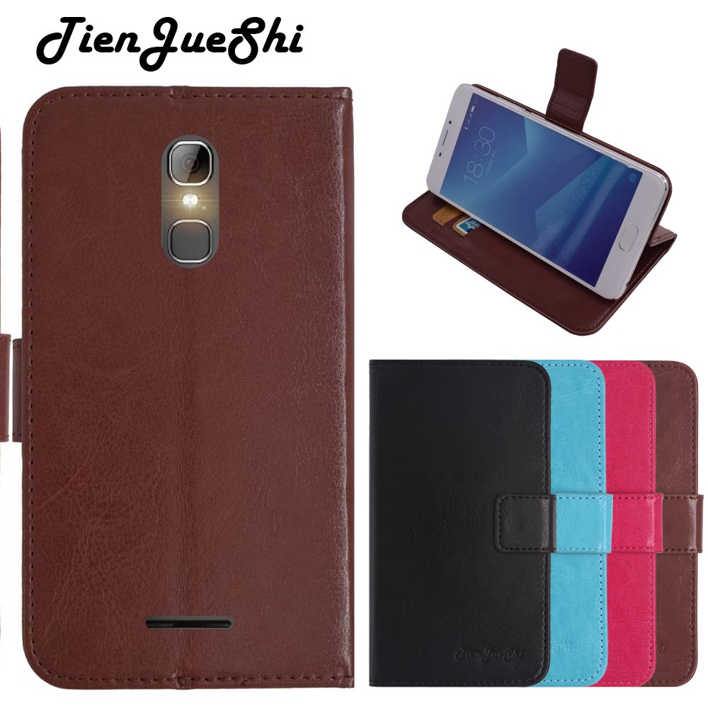 TienJueShi Flip Colour Book-Stand Protect Leather Cover Shell Wallet Etui Skin Case For Logicom ID bot 56 5 inch