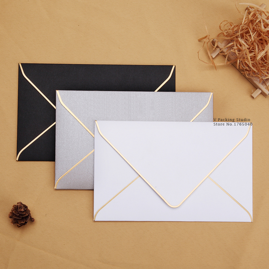 175x110cm Formal Business Enveloper White Gray Black paper Envelopes for Card Scrapbooking Gifts Pure Color Paper