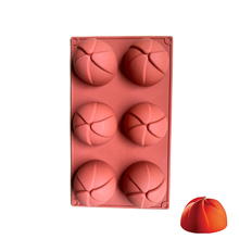 Silicone Molds 6 Cavities Hemispherical Shape For Cakes Chocolate Candy Pastry Tray  Ice Cream Mousse Baking Kitchen Tools