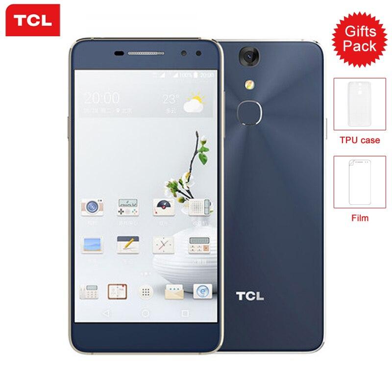 D'origine TCL 750 Mobile Téléphone Helio P10 MTK6755M Octa base 3G RAM 32G ROM 5.2 Pouce FHD Écran 8/16MP Caméra 4G LTE Smartphone