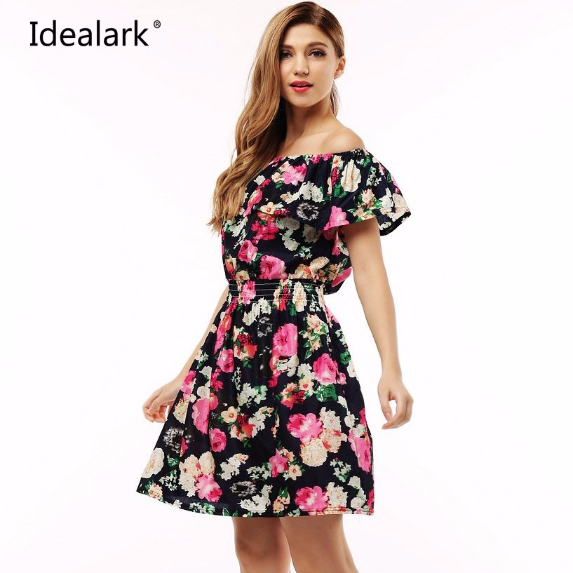 4651e3750fd 2017 fashion new Spring summer dress women clothing floral print ...