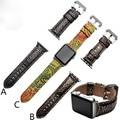 38mm 42mm A Apple pulseira de Relógio pulseira de couro genuíno Cinto Para relógio Iwatch Maçã Com Adaptador Recipiente